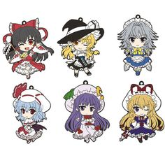 Calling all Touhou fans! Don't miss these adorable chibi straps!