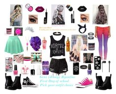 """""""Geni (Jenny) Byantine"""" by garnet1626 ❤ liked on Polyvore featuring LE3NO, J Brand, Lime Crime, OPI, Essie, Smashbox, Victoria's Secret, Boohoo, Natasha Accessories and Dorothy Perkins"""