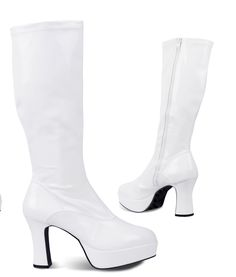 Heeled Boots, Retro, Heels, Fashion, High Heel Boots, Heel, Moda, Heel Boots, Fashion Styles