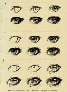 eyes step by step reference by ryky drawing illustration painting resource tool how to tutorial instructions Create your own roleplaying game material w RPG Bard Writin. Sword Drawing, Manga Drawing, Sword Art, Drawing Sketches, Drawing Tips, Manga Eyes, Anime Eyes, Draw Eyes, Pencil Portrait