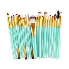 Susenstone 20 pcs Makeup Brush Set tools Makeup Toiletry Kit Wool Make Up Brush Set Gold *** Read more  at the image link.