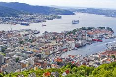 View of Bergen city, the starting point for all Hurtigruten cruises.