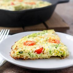 Cheesy Zucchini Tortilla Quiche is packed with layers of tortilla strips & zucchini shreds baked between savory & cheesy eggs.