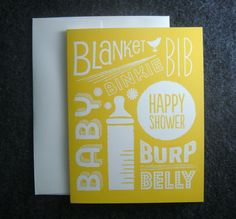 B is for Baby Shower Card