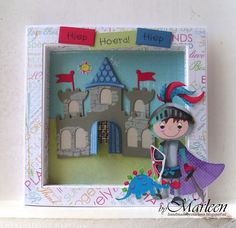 Handmade card by DT member Marleen with Collectables Castle (COL1404) from Marianne Design