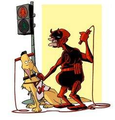 Old Daredevil by Donald Soffritti (http://dailygeekshow.com/2012/11/24/a-quoi-ressembleront-les-super-heros-lorsquils-seront-vieux/)