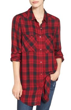 BP. Plaid Tunic Shirt available at #Nordstrom