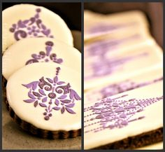Stenciled wedding favours