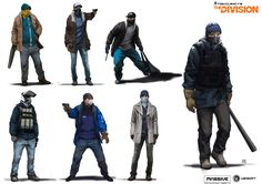 ArtStation - The Division: Enemy Factions Lineups concepts, Miguel Iglesias