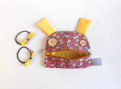Girl Gift Set Purse and matching ponytail bows  Zé by Zezling