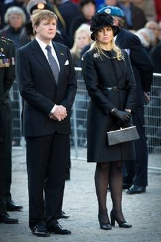 King Willem-Alexander and Queen Maxima of The Netherlands attend the National Remembrance ceremony at the National Monument on Dam Square in Amsterdam, 4 May 2013