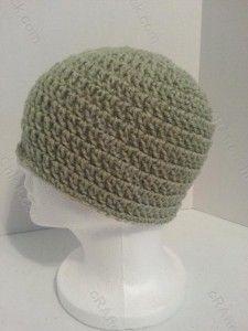 free double crochet beanie hat pattern