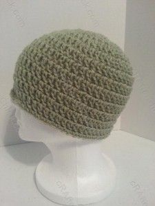 free double crochet beanie hat pattern