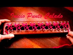 Inicio del Punto Calado/ Beginning of Fretwork stitch - YouTube