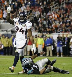 SUPER BOWL 50 Denver Broncos 24, Carolina Panthers 10  -   Lockdown Orange: Broncos defense confounds Cam, fits Manning with 2nd ring 0  -   By The Associated Press  -   This article was published February 8, 2016   -     Denver Broncos linebacker DeMarcus Ware (94) walks away after sacking Carolina Panthers quarterback Cam Newton during Super Bowl 50 on Sunday night in Santa Clara, Calif. It was the Broncos' third Super Bowl victory and their first since 1999.  -    PHOTO BY AP / JAE C…