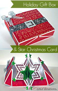 Holiday Gift Box & Star Christmas Card : Core'dinations ColorCore Cardstock® | Scrapbook Cardstock Paper, Projects, Tips, Techniques and More!