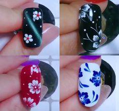 Nail Art Designs Videos, Nail Art Videos, Best Nail Art Designs, Nail Art Hacks, Nail Art Diy, Cool Nail Art, Pink Nail Art, Flower Nail Art, Nail Art For Girls