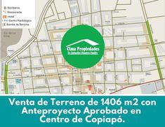 Se trata de un amplio terreno estabilizado con anteproyecto aprobado de 1406 m2, en pleno centro de Copiapó, destinado especialmente al desarrollo habitacional o comercial dadas sus características adecuadas para la construcción. Con la mejor ubicación, a tan sólo dos cuadras de la Plaza de Armas de Copiapó, entre las calles Chañarcillo y Atacama. No esperes ni un momento, contacta ahora mismo al fono WhatsApp +56945786529