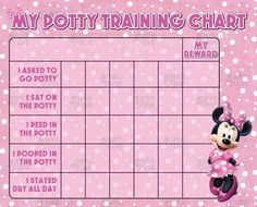 Minnie Mouse Pink Potty Training Chart and FREE by GraphicLoveShop