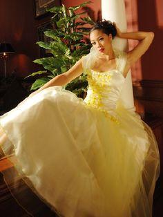 yellow wedding dresses