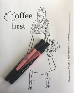 adult coloring pages. Coloring Page  fashion coloring pages. coffee lovers Digital Download  Coffee by RoseHillDesignStudio