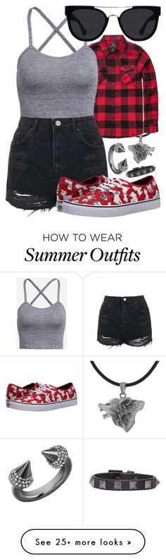 """I'm Gonna Soak Up the Sun"" by loocreve on Polyvore featuring Carolina Glamour Collection, Shouthouse, Topshop, Vans, Quay, Vita Fede and Valentino"