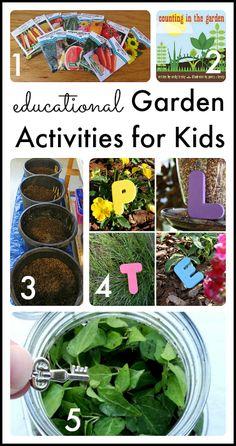 Educational garden activities for kids