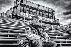high school, football, senior photography, black and white