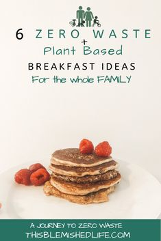 Easy vegan and zero waste breakfasts even your kids will love. These are filling ,delicious , and so simple you can make them even when you're in a rush. Wast free + plant based living doesn't have to be difficult. Click through to check them out. East Breakfast Ideas, Breakfast For Kids, Vegan Breakfast, Vegan Snacks, Vegan Recipes, Vegan Food, Healthy Food, Sustainable Food, Sustainable Living