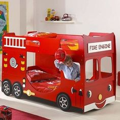 lit pour enfant camion de pompier bricolage pinterest. Black Bedroom Furniture Sets. Home Design Ideas