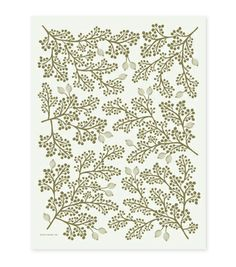 Beautiful Screen Printed Golden Berries Wrapping Sheets for pretty presents (by Rifle Paper Co.) #HolidayPinParty