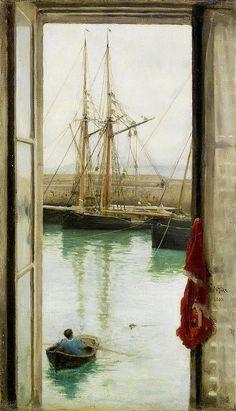 Henry Scott Tuke - Harbour Dielette, Normandy