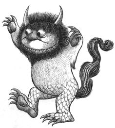 Where The Wild Things Are by Maurice Sendark Illustration