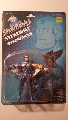 UNOPENED 1987 KENNER SILVER HAWKS SILVERHAWK STEELWILL WITH STRONGHOLD #Kenner