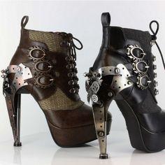 Wicked Steampunk Platform Ankle Bootie Sizes 6-11 Hades Oxford FREE USA Ship #HadesFootwear #FashionAnkleBootie