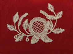 Honiton, by Jenny Brandis Antique Lace, Bobbin Lace, Christmas Crafts, Brooch, Cool Stuff, Antiques, Red, Pictures, Antiquities