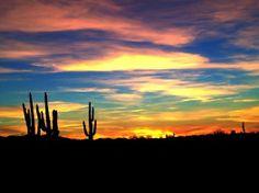 Another fabulous Arizona sunset Desert Dream, Desert Art, Desert Sunset, Amazing Sunsets, Beautiful Sunset, Beautiful Places, Le Far West, Best Photographers, Beautiful Landscapes