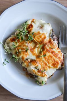 Moussaka with eggplant and potatoes