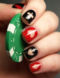 Find images and videos about nails, nail art and nail polish on We Heart It - the app to get lost in what you love. Uk Nails, Love Nails, How To Do Nails, Pretty Nails, Hair And Nails, Casino Royale, Mani Pedi, Manicure, Vegas Nails