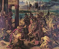 12. aprila 1204. godine Krstaši, koji su u Četvrtom krstaškom ratu krenuli u Svetu zemlju da oslobode Hristov grob, uspeli su da posle nekoliko dana opsade zauzmu i poharaju Konstantinopolj (Carigrad). Iako je početni cilj ovog pohoda bio napad na islamski Egipat i oslobođenje Hristovog groga u Svetoj zemlji, krstaši su napali hrišćansku Vizantiju i na kraju je srušili. Posle zauzeća grad je pretrpeo strahovito pljačkanje i razarenje. Vizantija ga je povratila 1261. godine.