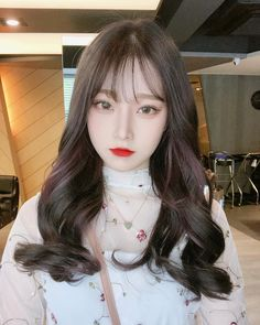 Ulzzang Girl Selca, Ulzzang Short Hair, Style Ulzzang, Ulzzang Korean Girl, Korean Bangs Hairstyle, Hairstyles With Bangs, Girl Hairstyles, Hair Bangs, Pretty Korean Girls