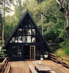 14 Tiny House Designs Perfect for CouplesYou can find Small house design and more on our Tiny House Designs Perfect for Couples Future House, My House, Tiny House Cabin, House Art, House Floor, Tiny House Design, Cottage House Designs, Modern Tiny House, Cabin Homes