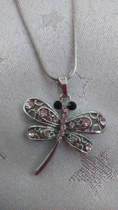 """dragonfly necklace on sale on our facebook shop """"A Treasured Something"""""""