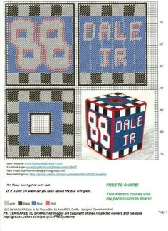 NASCAR DALE JR. #88 TISSUE BOX COVER by DAWNMARIE ABEL