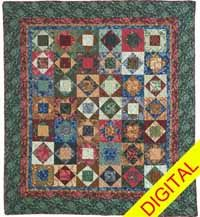 Shades of Fall Digital Quilt Pattern from QuiltandSewShop.com