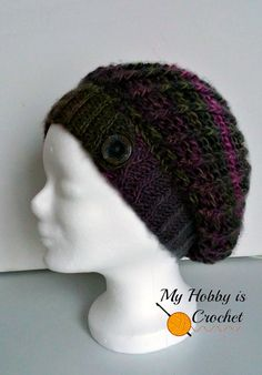 My Hobby Is Crochet: The Echo Ridge Slouch - Free Crochet Pattern