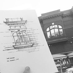 I fudged this one a little... #sketch #architecture | by Dan Hogman