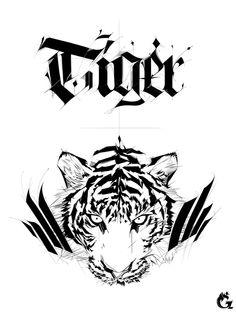 Tiger by Greema Choe, via Behance  |  Amazing.