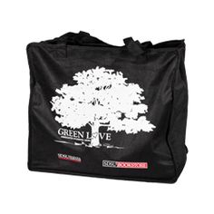 853e741bb Green Love Tote Bag Reusable tote bag made from 100% recycled soda bottles  featuring a. shopaztecs