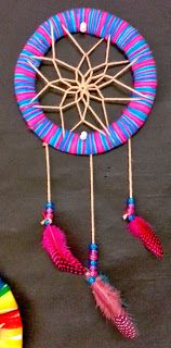 I love this... but I'm not sure my 5th's could handle it... :( Art with Ms. Gram: Dreamcatchers (5th & Art Club)